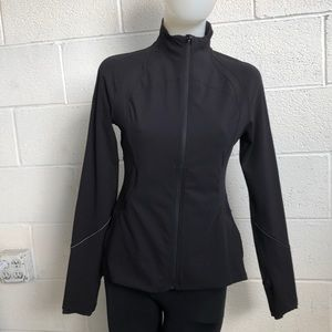 Lululemon Gait keeper black zip jacket sz 6 60917